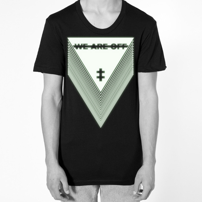 WEAREOFF Logo T-Shirt GLOW-IN-THE-DARK (!!!) Unisex